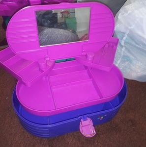Teal pink and purple caboodle